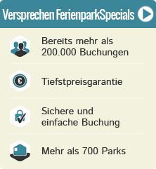 100.000+ Kunden haben bereits gebucht, Tiefstpreisgarantie, sichere Buchung, Parks im In- & Ausland