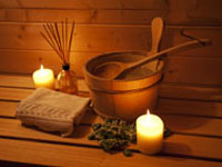 Bungalows mit Sauna