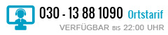 030 - 13881090 | MO-FR 8:30 - 22:30 SA 10:00 - 18:00 SO 10:00 - 22:00