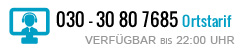 030 - 30807685 | MO-FR 8:30 - 22:30 SA 10:00 - 18:00 SO 10:00 - 22:00
