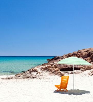 Italienische Ferienparks am Meer