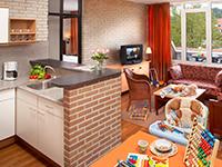 Ferienhäuser mit offener Küche