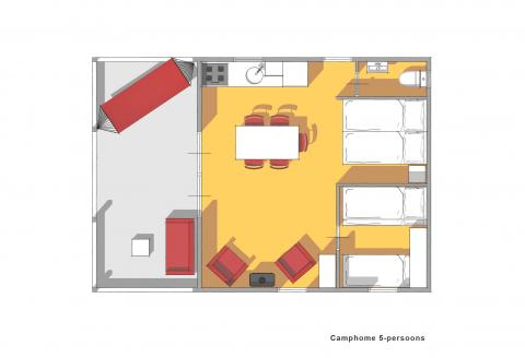 5-Personen Ferienhaus Camphome