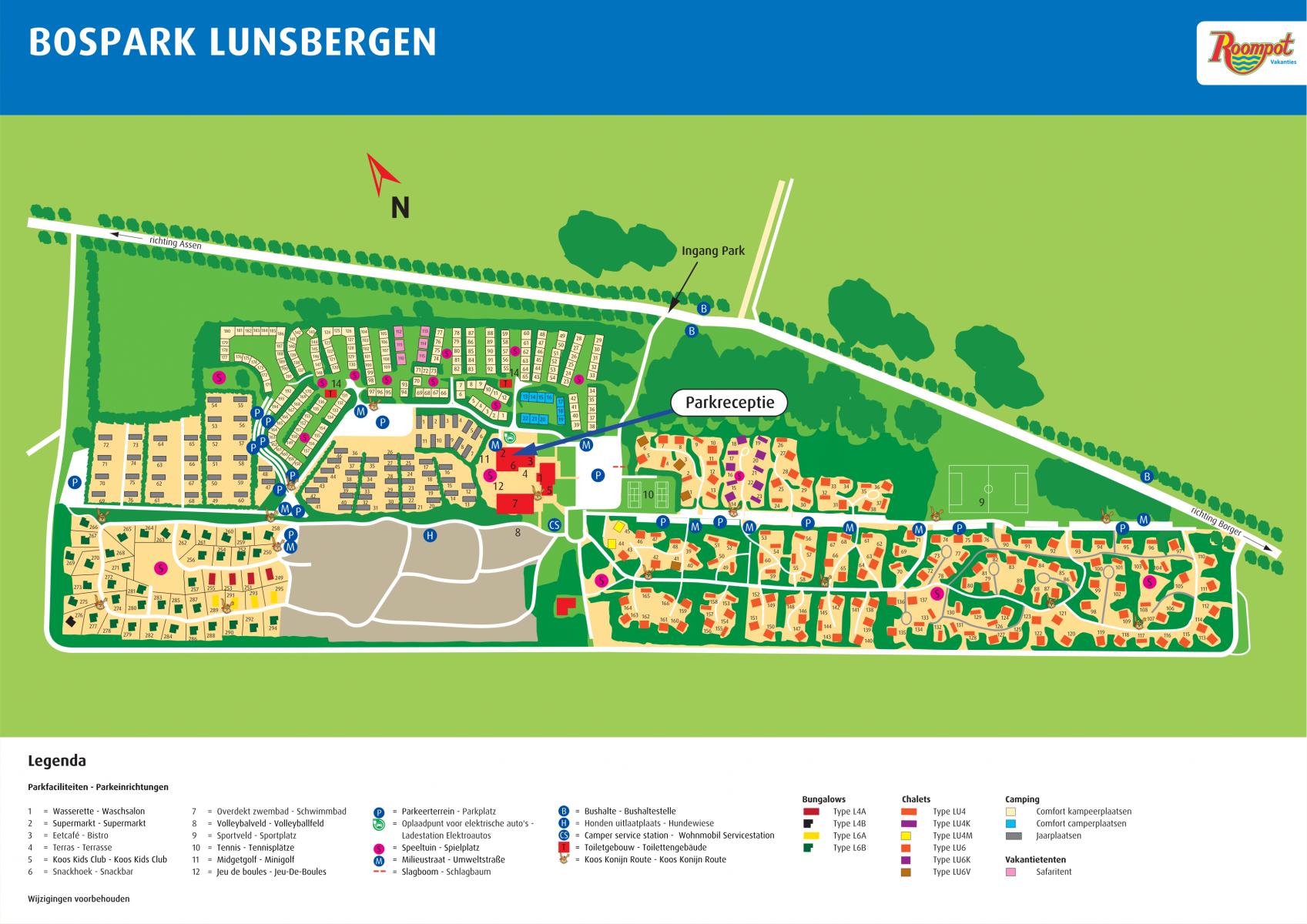 Roompot Bospark Lunsbergen