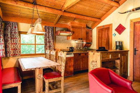 6-Personen Mobilheim/Chalet (max. 2 adults 4 children) Cowboy Cottage