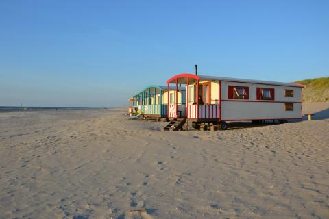 4-Personen Mobilheim/Chalet Pipowagen on the Beach